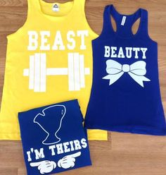 Beauty and the beast disney shirts. Not ready for the baby shirt yet, though! Matching Couple Shirts, Matching Couples, Matching Outfits, Cute Outfits, Rock Outfits, Emo Outfits, Disney Shirts, Disney Outfits, Disney Clothes