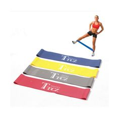 Yoga Pilates Resistance Band Exercise Loop Rubber Bands Fitness Loop Rope Stretch Band Crossfit Band for Bodybuilding Pilates Training, Yoga Pilates, Pilates Workout, Pilates Band, Resistance Loop Bands, Resistance Workout, Resistance Band Exercises, Leg Exercises, Band Workouts