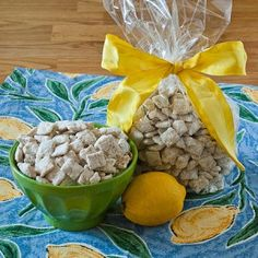 Lemon Buddies using rice cereal