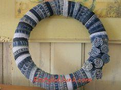 jean seam wreath