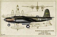 B-26 Flak Bait Profile Art Photograph by Tommy Anderson