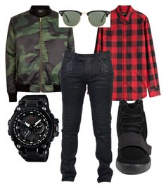 """"" by firlyfie on Polyvore featuring Dsquared2, Balmain, adidas, G-Shock, Ray-Ban, men's fashion and menswear"