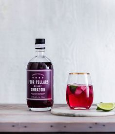 This potent and purple shiraz gin - made with Yarra Valley grapes - is a highly smashable winter warmer best straight over ice or as a gin and tonic. Winter Cocktails, Craft Cocktails, Cocktail Drinks, Cocktail Recipes, Perth Bars, Gin Recipes, Pink Drinks, Dry Gin, Liquor Bottles