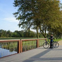 STREETLIFE Crossline CorTen Bridge. Flat bridges with segmented fencing, made of…