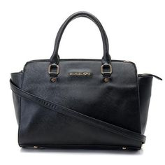 Perfect Michael Kors Selma Top-Zip Large Black Satchels, Perfect You | See more about michael kors, bags and outlets.