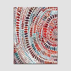 Idea for Broken Glass Mosaic Piece. Minted for west elm, Fire Ripple Drop, at West Elm - Artwork - Wall Art - Wall Decor - Home Decor Diy Wall Art, Wood Wall Art, Diy Art, Wall Art Decor, Artwork Wall, Interior Minimalista, Wood Canvas, Easy Paintings, Large Art