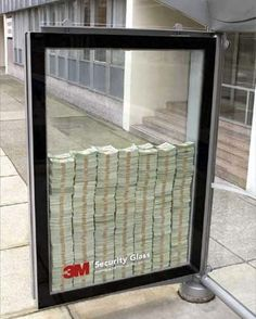 3M security glass.