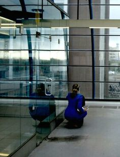 Stewardess at the Airport