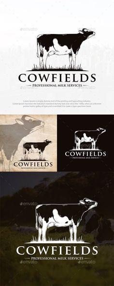 Cow Logo, Farm Logo, Logo Design Template, Logo Templates, Best Logo Design, Graphic Design, Portfolio Logo, Ai Illustrator, Branding