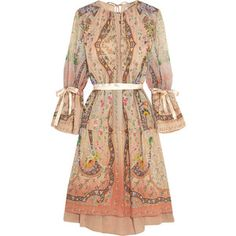 Etro Printed silk-georgette dress