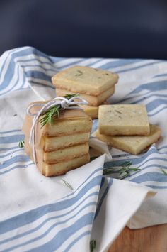 Rosemary Olive Oil Shortbread Cookies - A Life Well Lived