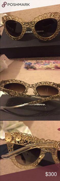 Dolce &Gabbana vintage looking sunglasses Original . Gold sunglasses Dolce&Gabbana Dolce & Gabbana Accessories Glasses