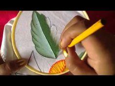 Pintura en tela hojas de girasol con cony