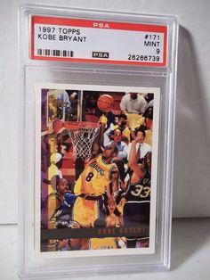 1997 Topps Kobe Bryant PSA Mint 9 Basketball Card #171 NBA Collectible #LosAngelesLakers