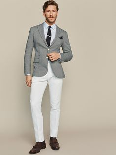 The best selection of contemporary and vintage clothing, luxury brands and many more you can buy online now Waistcoat Men, Vintage Outfits, Vintage Clothing, Men's Clothing, Summer Suits, Knit Blazer, Refashion, Formal Wear, Houndstooth