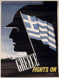 Edward McKnight Kauffer. Greece Fights On. 1942 by kitchener.lord, via Flickr