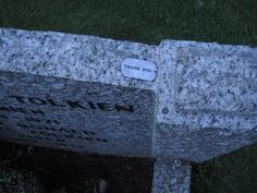 """Quote from Tumblr """"My friends went on a trip to England, and they stopped to visit J.R.R. Tolkien's grave. They found this left on top of it, and now I want to cry."""""""