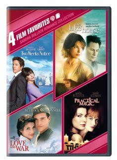 4 Film Favorites: Sandra Bullock (In Love and War, The Lake House, Practical Magic, Two Weeks Notice) Warner http://www.amazon.com/dp/B005FH1RRI/ref=cm_sw_r_pi_dp_8CLxwb02TTSZ9