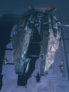During Hive Minds Domination Human Solos Fled Using Every Possible Means,  Including Makeshift Spaceships.
