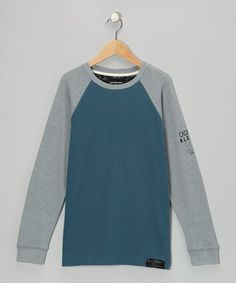 Take a look at this Star Gazer & Gray Raglan Thermal - Toddler & Boys by Calvin Klein Jeans on #zulily today!