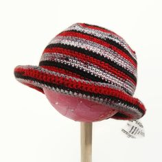 12 to 24 months Crusher hat in Bright colours  Red Black Grey White