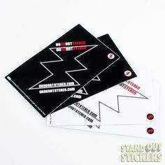 Rectangle Custom Vinyl Stickers with 1 Kiss Cut