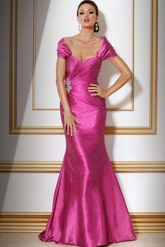 Pink Satin Mermaid Dress