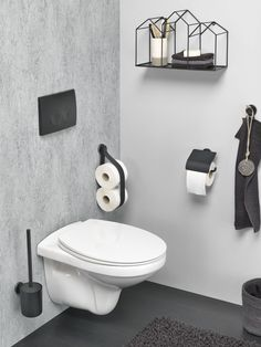 Tiger Urban Badaccessoires-Set The post Tiger Urban Badaccessoires-Set Toilet Room Decor, Small Toilet Room, New Toilet, Modern Toilet, Modern Bathroom, Toilet Brushes And Holders, Toilet Roll Holder, Downstairs Toilet, Downstairs Cloakroom