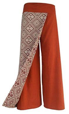 Bonya Women's Boho Cotton Casual Palazzo Pants - (Orange1) Bonya Collections http://www.amazon.com/dp/B015M1LTLU/ref=cm_sw_r_pi_dp_F.PLwb1CYZHGF