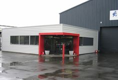 industrial offices Main 4 Architects Ltd Industrial Office, Architects, Maine, Shed, Commercial, Outdoor Structures, Offices, Outdoor Decor, Profile
