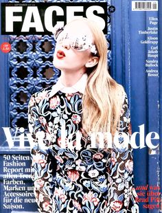 Germany Faces, October 2013 #Cover #Fashion #Magazine