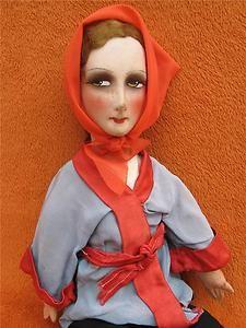 pretty doll salon / boudoir / entièremnent fabric 54 cm 1930