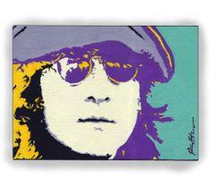 John Lennon Pop Art | John Lennon Beatles original pop art PAINTING by ARTbyDKS on Etsy