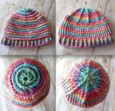 ($) Inside Out Reversible Beanie, crochet pattern for purchase