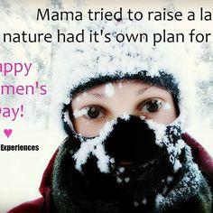 Happy Women's Day to all you wonderful women around the world!! <3  #happywomensday #womensday #naistenpäivä #mamatriedtoraisealady #camping #hiking #hiker #vaeltaja #vaeltajasielu #winterhiking #winter #winterfun #snow #snowfun #snowyface #cold #growingsnow