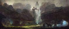 Fantasy landscape by Feng Zhu