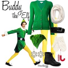 buddy the elf costume diy Buddy The Elf Costume, Diy Elf Costume, Dress Up Costumes, Diy Costumes, Xmas Costumes, Teacher Costumes, Ugly Sweater Party, Ugly Christmas Sweater, Christmas Fashion