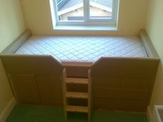 Built-in Childrens Cabin Bed with Drawers, Guildford, Surrey Box Room Bedroom Ideas For Kids, Box Room Beds, Box Bed, Kids Rooms, Cabin Bed With Storage, Kids Beds With Storage, Bed Storage, Bulkhead Bedroom, Stairs Bulkhead