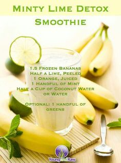 Minty lime detox (this one sounds good!)