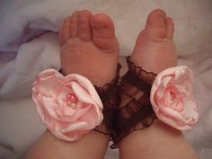 oh what in the hell!  Aren't baby feet cute enough without trying (unsuccessfully) to make them cuter with your homemade crap?