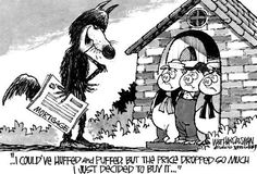Even the Big Bad Wolf can spot a well priced home #realestate humor