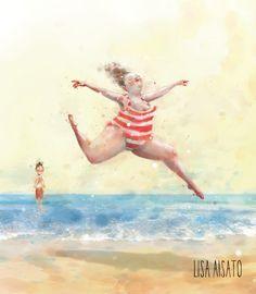 Når badedrakta fra i fjor er litt for trang, men sola skinner og du har ferie! Art And Illustration, Lisa, Happy B Day, Old Postcards, Old Pictures, Illustrators, Artsy, Image, Instagram