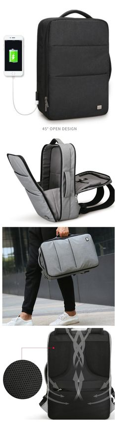 5b9db4d7381 New Design USB Charging Men s Backpacks Male Casual Travel women Teenagers  Student School Bags Simple Notebook