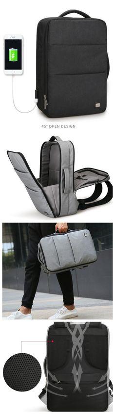 New Design USB Charging Men s Backpacks Male Casual Travel women Teenagers Student  School Bags Simple Notebook 06cf13dc1c