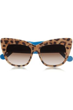 Anna-Karin Karlsson | Alice Goes to Cannes cat eye leopard-print acetate sunglasses | NET-A-PORTER.COM
