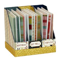 Build up your card stash and store them in style with this card organizer. Project cutting files and instructions from the Pazzles Craft Room. Cutting files available in WPC, AI and SVG file formats.