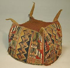 Four-Cornered Hat Date: 7th–9th century Geography: Peru Culture: Wari Medium: Camelid hair