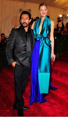 Constance Jablonski in Haider Ackermann at the Met Gala 2012