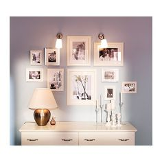 Ikea picture frames. Nice wall layout