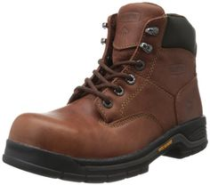 Wolverine Women's W04675 Harrison Safety Toe Work Boot, Brown, 8.5 M US * Click on the image for additional details.